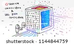 quantum computer and big data... | Shutterstock .eps vector #1144844759