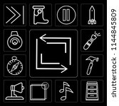 set of 13 simple editable icons ...   Shutterstock .eps vector #1144845809