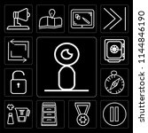 set of 13 simple editable icons ...   Shutterstock .eps vector #1144846190