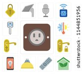 set of 13 simple editable icons ... | Shutterstock .eps vector #1144851956