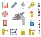 set of 13 simple editable icons ... | Shutterstock .eps vector #1144851980