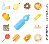 set of 13 simple editable icons ... | Shutterstock .eps vector #1144852193