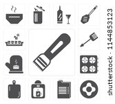 set of 13 simple editable icons ... | Shutterstock .eps vector #1144853123