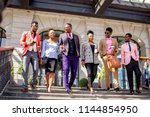 american youth wearing stylish...   Shutterstock . vector #1144854950