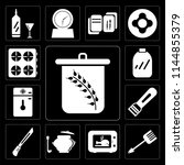 set of 13 simple editable icons ... | Shutterstock .eps vector #1144855379