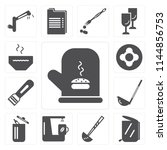 set of 13 simple editable icons ... | Shutterstock .eps vector #1144856753