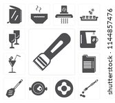set of 13 simple editable icons ... | Shutterstock .eps vector #1144857476