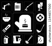 set of 13 simple editable icons ... | Shutterstock .eps vector #1144857500