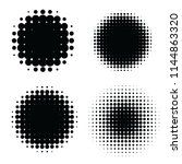 abstract halftone backgrounds.... | Shutterstock .eps vector #1144863320