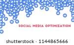 may 01  2018  social media... | Shutterstock . vector #1144865666