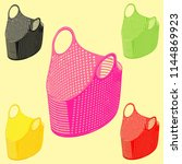 plastic basket simple with... | Shutterstock .eps vector #1144869923