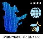blue hexagon quebec province... | Shutterstock .eps vector #1144875470