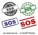 sos seal imprints with damaged... | Shutterstock .eps vector #1144879646
