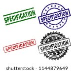 specification seal prints with... | Shutterstock .eps vector #1144879649