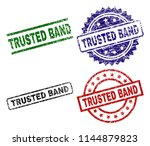 trusted band seal prints with... | Shutterstock .eps vector #1144879823