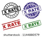 x rate seal prints with... | Shutterstock .eps vector #1144880579