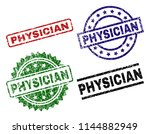 physician seal imprints with... | Shutterstock .eps vector #1144882949