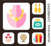 simple set of 6 multicolor gift ... | Shutterstock .eps vector #1144883543