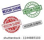 mexican cuisine seal prints...   Shutterstock .eps vector #1144885103
