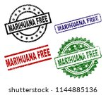 marihuana free seal prints with ... | Shutterstock .eps vector #1144885136