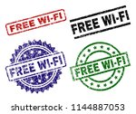 free wi fi seal stamps with... | Shutterstock .eps vector #1144887053
