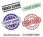french cuisine seal prints with ...   Shutterstock .eps vector #1144887080