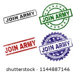 join army seal prints with... | Shutterstock .eps vector #1144887146