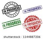 in progress seal prints with...   Shutterstock .eps vector #1144887206