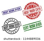 best boss ever seal prints with ... | Shutterstock .eps vector #1144889036