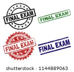 final exam seal prints with... | Shutterstock .eps vector #1144889063