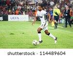 Постер, плакат: Evra in UEFA Champions