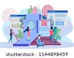 recruitment  oncept for web... | Shutterstock .eps vector #1144898459