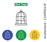 bird cage line icon in black... | Shutterstock . vector #1144902119