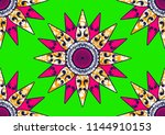 textile fashion african print... | Shutterstock .eps vector #1144910153