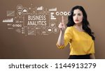 business analytics with...   Shutterstock . vector #1144913279