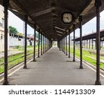 old empty abandoned train... | Shutterstock . vector #1144913309