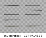 vector shadows isolated. page... | Shutterstock .eps vector #1144914836