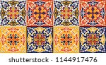 talavera pattern.  azulejos... | Shutterstock .eps vector #1144917476