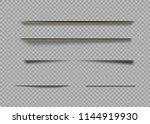 vector shadows isolated. page... | Shutterstock .eps vector #1144919930