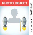 photo booth props. birthday and ... | Shutterstock .eps vector #1144931666