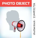 photo booth props. birthday and ... | Shutterstock .eps vector #1144931726