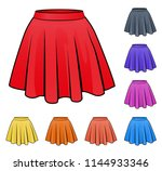 illustration of skirts set in... | Shutterstock .eps vector #1144933346