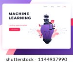 machine learning algorithm... | Shutterstock .eps vector #1144937990