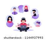 vector illustration  customer... | Shutterstock .eps vector #1144937993