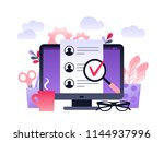 human resources  recruitment... | Shutterstock .eps vector #1144937996
