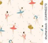 seamless pattern of ballet... | Shutterstock .eps vector #1144940273