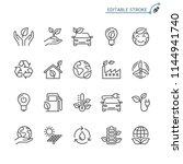 eco line icons. editable stroke....   Shutterstock .eps vector #1144941740