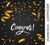 congrats with golden confetti   ... | Shutterstock .eps vector #1144943309