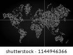 world map of planet earth ... | Shutterstock .eps vector #1144946366