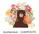 bear teddy  bear polar with... | Shutterstock .eps vector #1144952270